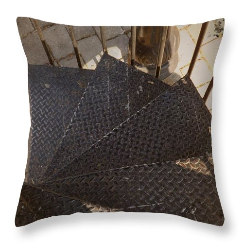 Spiral Throw Pillow featuring the photograph Winding Iron by Sara Raber