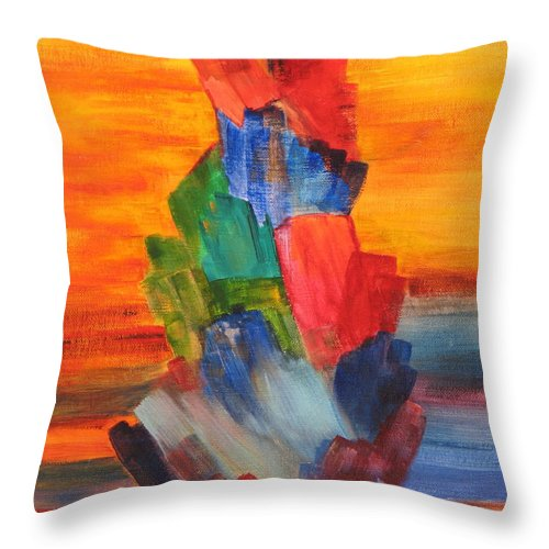 Crystals Throw Pillow featuring the painting Windjammer by Jennifer Hillman