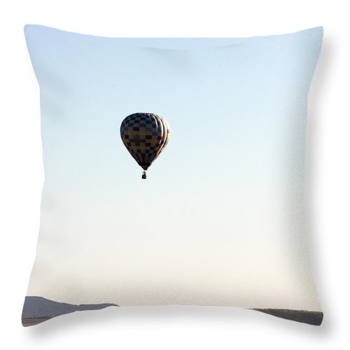 Windmill Throw Pillow featuring the photograph Windmill Ballooning by Alycia Christine