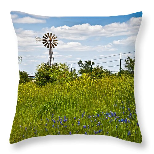 Windmill Throw Pillow featuring the photograph Windmill by Mark Alder