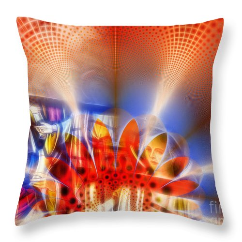 Abstract Throw Pillow featuring the photograph Window Of Illusions by Ian Mitchell