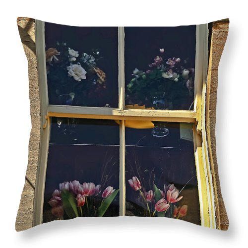 Travel Throw Pillow featuring the photograph Window Of The Cotswolds by Elvis Vaughn