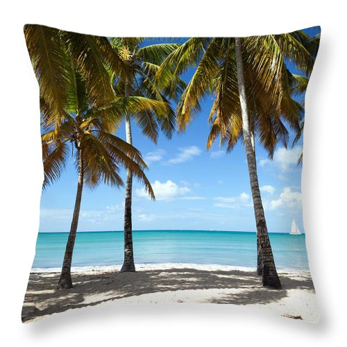 Idyllic Throw Pillow featuring the photograph Window On The Caribbean II by Matteo Colombo