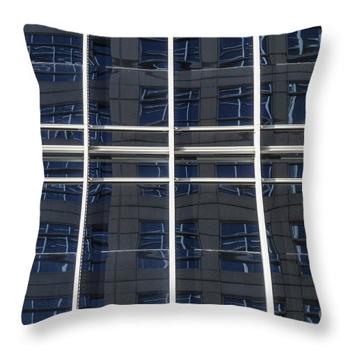 Window Throw Pillow featuring the photograph Windows In Windows by Diane Macdonald