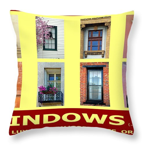 Windows Throw Pillow featuring the photograph Windows Of Opportunity by Michael Moore