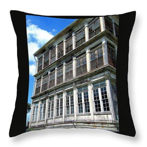 Lunatic Asylum Throw Pillow featuring the photograph Lunatic Asylum Windows by Peter Ogden