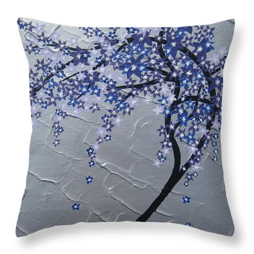 Humming Bird Throw Pillow featuring the painting Windy by Cathy Jacobs