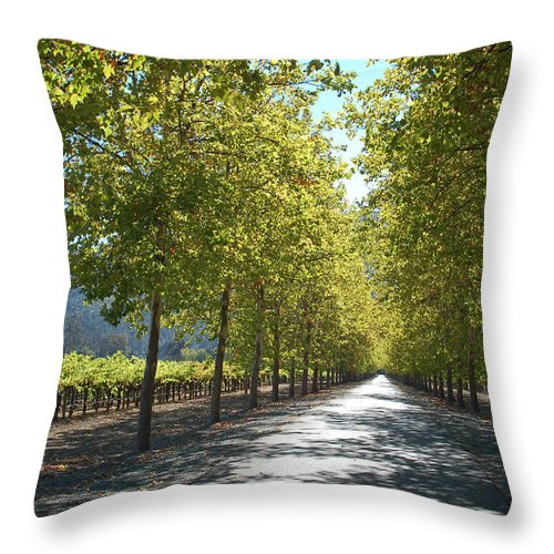 Napa Throw Pillow featuring the photograph Wine Country Napa by Suzanne Gaff