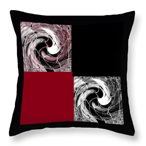 Graphic Throw Pillow featuring the mixed media Wine by Ann Calvo