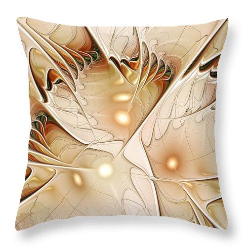 Malakhova Throw Pillow featuring the digital art Wings by Anastasiya Malakhova