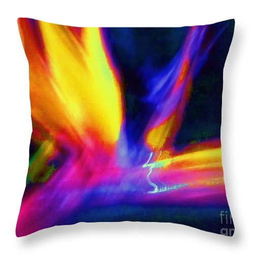 Wings Throw Pillow featuring the photograph Wings Of Color Abstract by Eric Schiabor