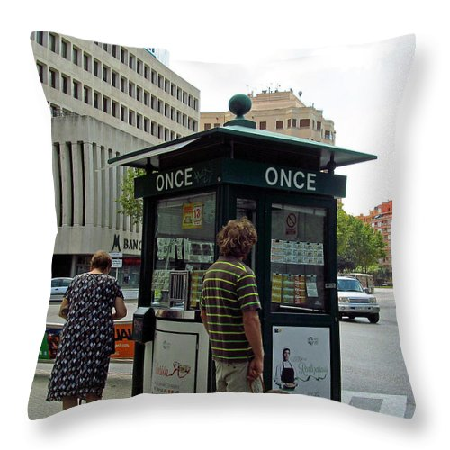 Old Age Throw Pillow featuring the photograph Winning The Lottery And Retirement by Tina M Wenger