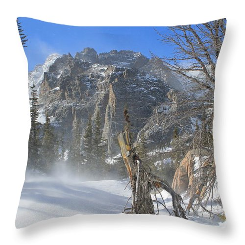 Winter Throw Pillow featuring the photograph Winter At Loch Vale 2 by Tonya Hance