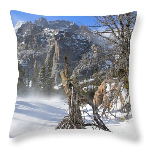 Winter Throw Pillow featuring the photograph Winter At Loch Vale by Tonya Hance