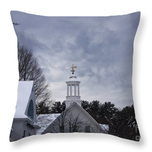 Meredith Throw Pillow featuring the photograph Winter At Mill Falls by Michael Mooney
