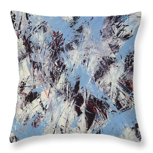 Abstract Throw Pillow featuring the painting Winter by Dean Triolo