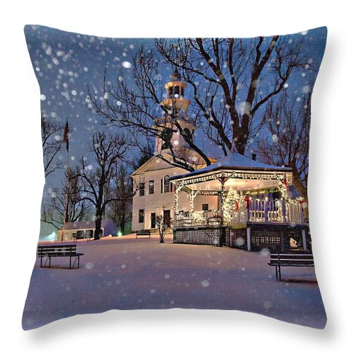 Winter Throw Pillow featuring the photograph Winter In New England by Larry Richardson