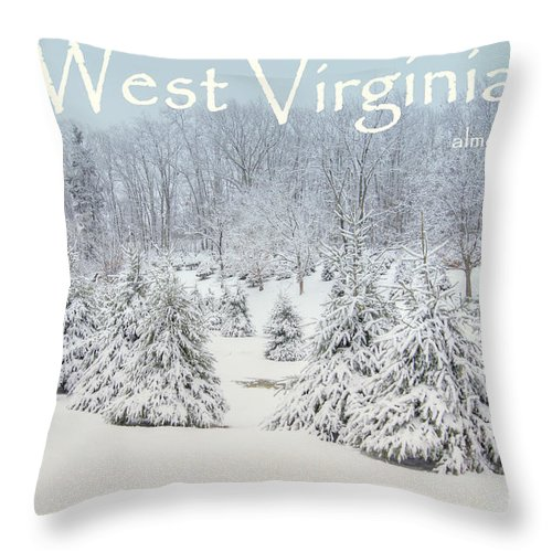 West Virginia Throw Pillow featuring the photograph Winter In West Virginia by Benanne Stiens