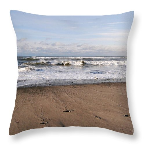 Winter Storm Throw Pillow featuring the photograph Winter Storm In New Hampshire Art Print by Eunice Miller