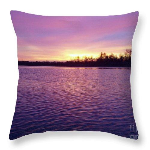 Winter Sunrise Throw Pillow featuring the photograph Winter Sunrise by John Telfer