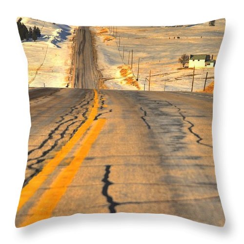 Wyoming Throw Pillow featuring the photograph Winter Up North by Anthony Wilkening