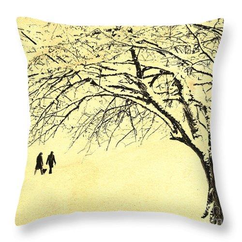 Digital Art Throw Pillow featuring the photograph Winter Wonderland by Edmund Nagele