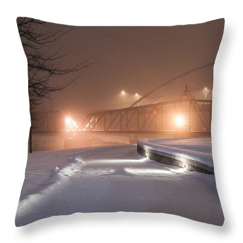 Winter Throw Pillow featuring the photograph Winter's Night Stroll by Mark McDaniel
