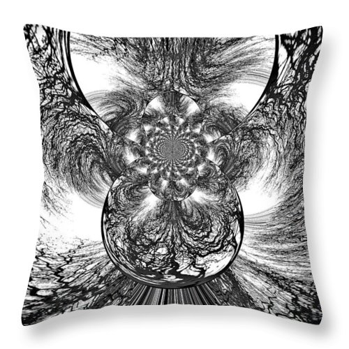 Winter Throw Pillow featuring the digital art Winter's Vortex by Absinthe Art By Michelle LeAnn Scott