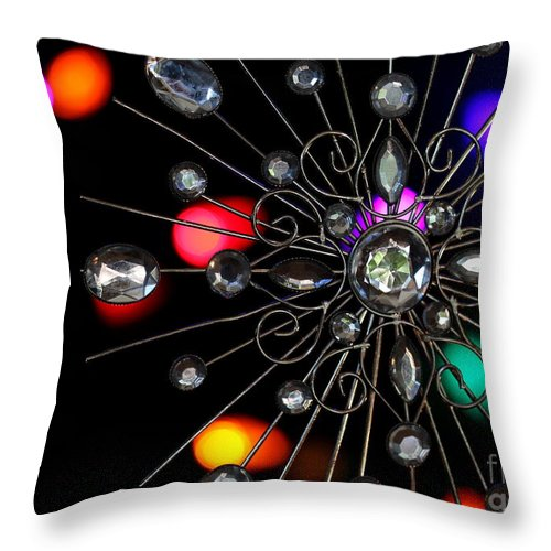 Wire Throw Pillow featuring the photograph Wire And Glass Ornament by Kenny Glotfelty