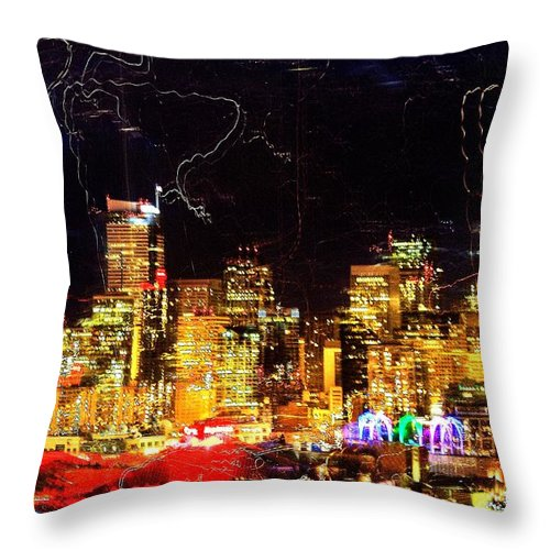 Seattle Throw Pillow featuring the photograph Wired Seattle by Benjamin Yeager