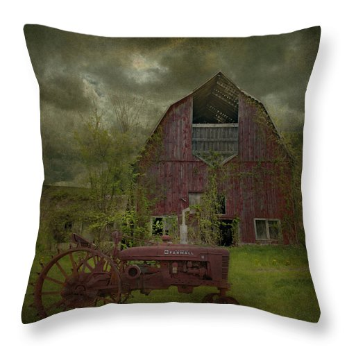 Wisconsin Throw Pillow featuring the photograph Wisconsin Barn 3 by Jeff Burgess