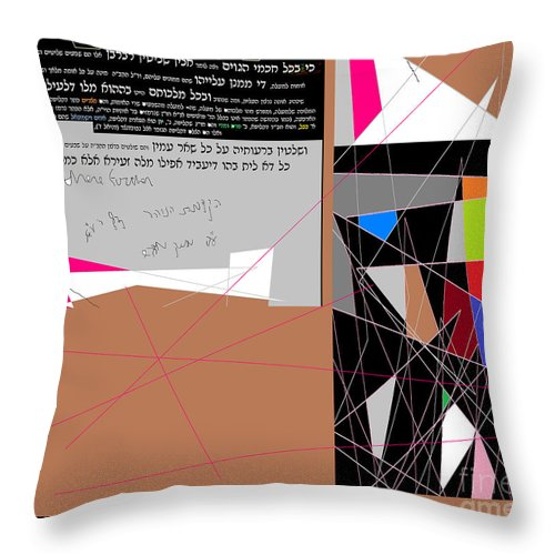Throw Pillow featuring the digital art Wisdom Of The Nations by David Baruch Wolk