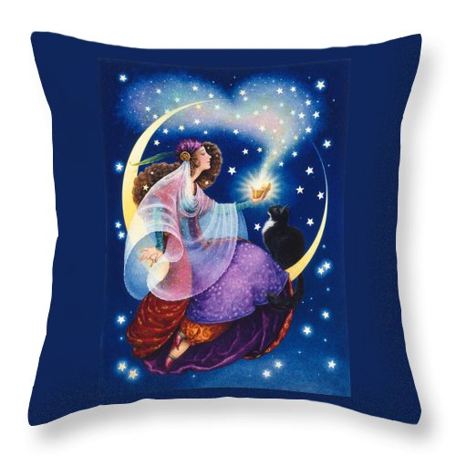 Gypsy Throw Pillow featuring the painting Wishes by Lynn Bywaters