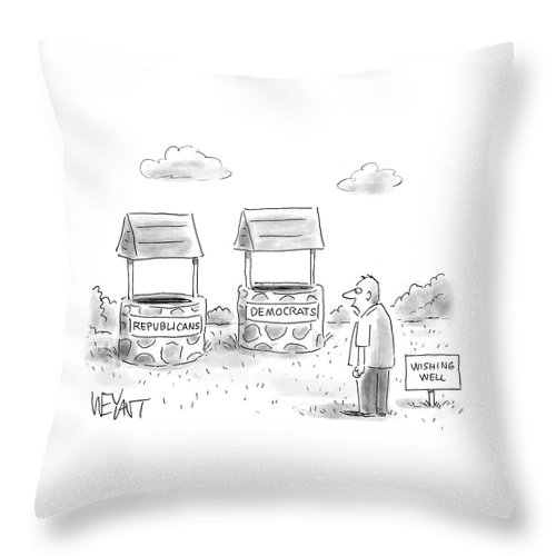 Wishing Wells For Republicans And Democrats Throw Pillow