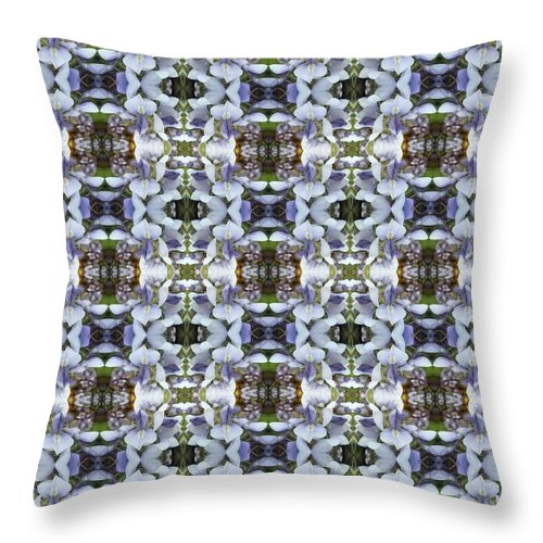 Wisteria Throw Pillow featuring the photograph Wisteria Flower Pattern by Nicki Bennett
