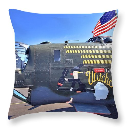 9210 Throw Pillow featuring the photograph Witchcraft by Gordon Elwell
