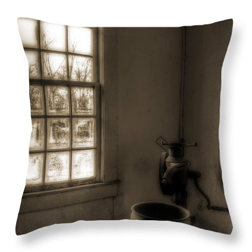 Cream Separator Throw Pillow featuring the photograph Without by Mark Alder