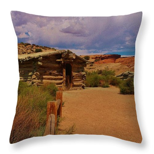 Utah Throw Pillow featuring the photograph Wolfe Ranch by Dany Lison