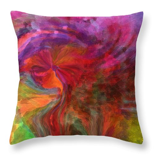 Woman Art Throw Pillow featuring the digital art Women by Linda Sannuti