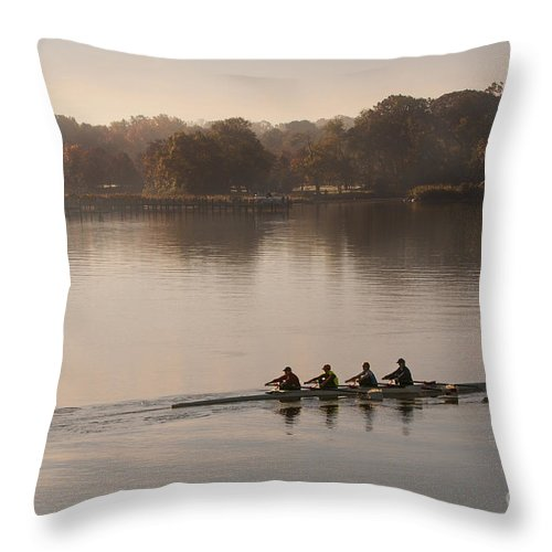 2013 Throw Pillow featuring the photograph Women's Four On The Chester River by Lauren Brice