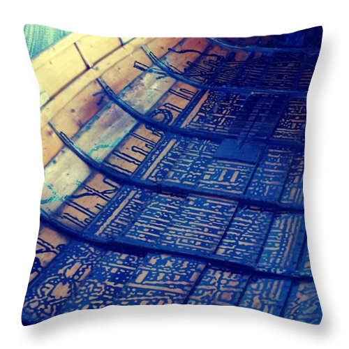 Wooden Boat Throw Pillow featuring the photograph Wood You by Barbara Christensen