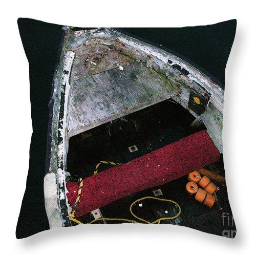 Boat Throw Pillow featuring the photograph Wooden Boat by Karen Lambert