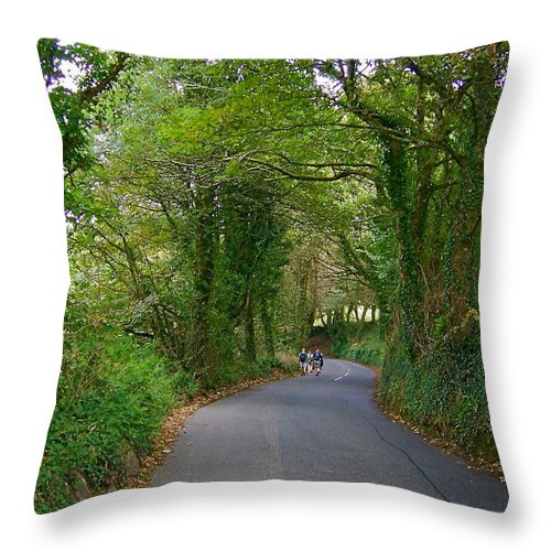 Country Throw Pillow featuring the photograph Woodland Road by Denise Mazzocco