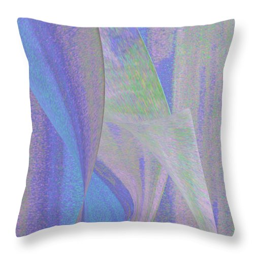 Abstract Throw Pillow featuring the digital art Woodpecker by Stephanie Grant