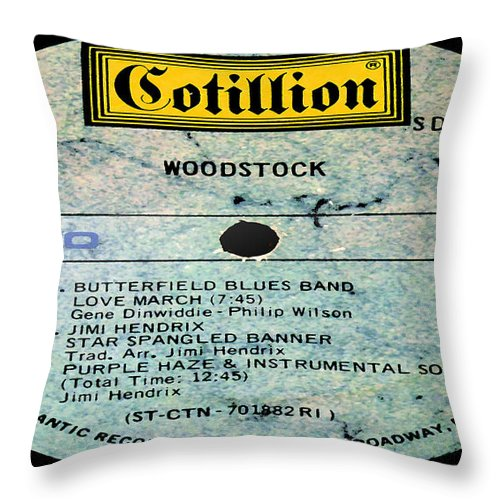 Woodstock Throw Pillow featuring the photograph Woodstock Side 6 by Marcello Cicchini
