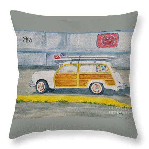 Woody Paintings Throw Pillow featuring the painting Woody by Regan J Smith
