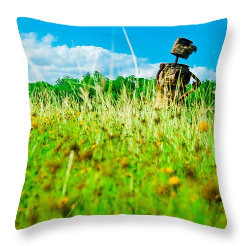 Work Throw Pillow featuring the photograph Work by Norchel Maye Camacho