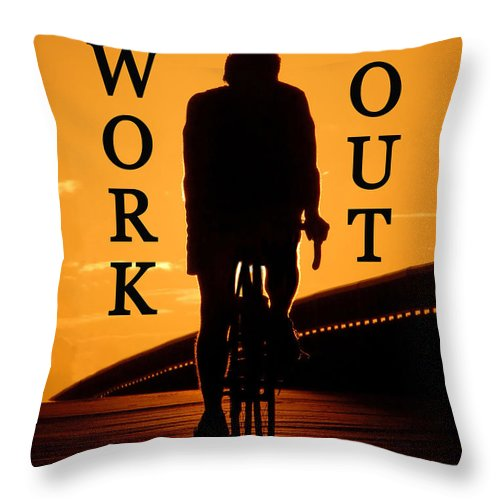 Work Out Throw Pillow featuring the photograph Work Out Vertical Work One by David Lee Thompson