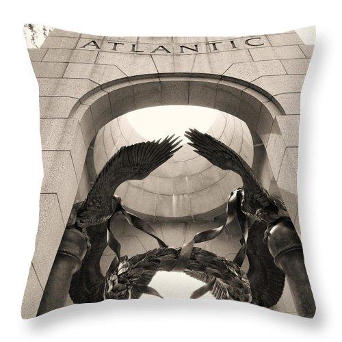 Washington Dc Throw Pillow featuring the photograph World War 2 Atlantic Memorial by Joseph Hedaya