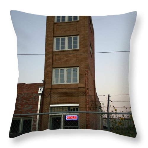 Skyscraper Throw Pillow featuring the photograph Worlds Smallest Skyscraper by Nina Fosdick